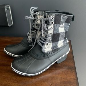 Buffalo Plaid Sorel Boots
